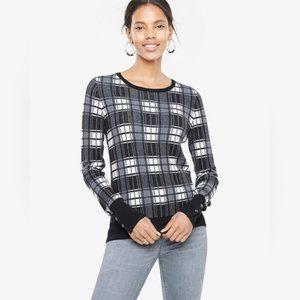 Ann Taylor Plaid Sweater